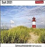 Sehnsuchtskalender Sylt - Kalender 2021 - Harenberg-Verlag - Postkartenkalender mit 53 heraustrennbaren Postkarten - 15,8 cm x 18 cm