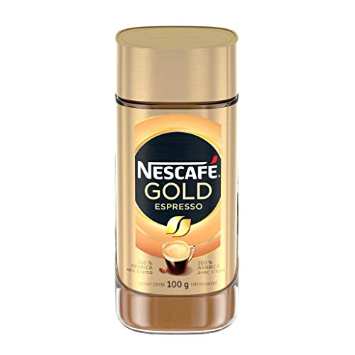 NESCAFÉ Gold Espresso Instant Coffee, 100 g Jar - Imported from Canada