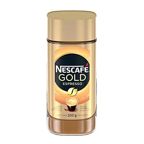 NESCAFÉ Gold Espresso Instant Coffee, 100 g Jar - Imported from Canada