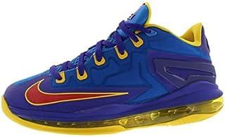 Nike Boys' LeBron XI Low (GS) Basketball Shoes (5 M US Big Kid, Light Photo Blue / Challenge Red-Dark Concord)