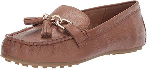 Aerosoles Women's Soft Drive Loafer, Dark tan Leather, 9.5 M US