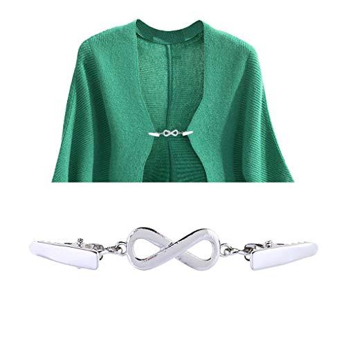 CAVIVI Vintage Suéter Clip Mujer Camisa Vestido Cinch Espalda Chal Clip Flexible...