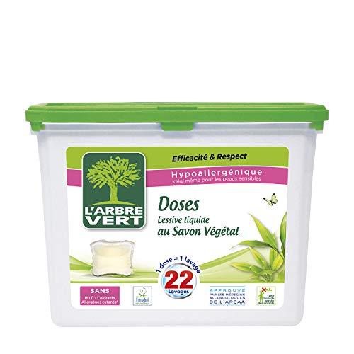 L'Arbre Vert Lessive liquide au savon végétal - Les 22 doses, 580g