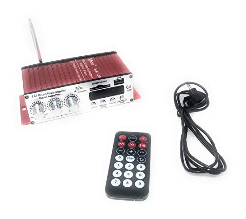 TEMPO DI SALDI Amplificatore Audio 2 Canali Stereo Ingresso USB SD Card Reader Con Telecomando