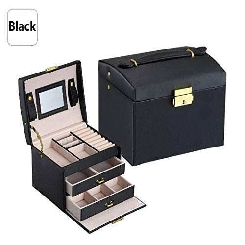 YCY Jewelry Box Jewellery Box Exquisite Cosmetic Box Jewelry Storage Box Storage Box Graduate Day Giftfor Bracelets, Earrings, Rings, Necklaces, Brooches
