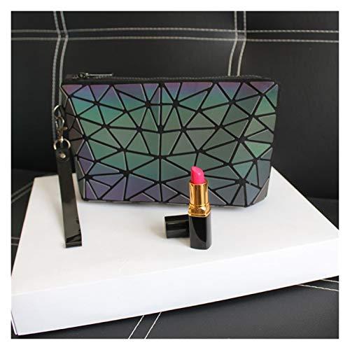 LYLY Kosmetiktasche Reflektierende Kosmetiktasche for Frauen Reise Organizer Make-up-Tasche Kilometer Beauty Case for Frauen Makeup Tasche Kulturbeutel (Color : Irregular Triangle)