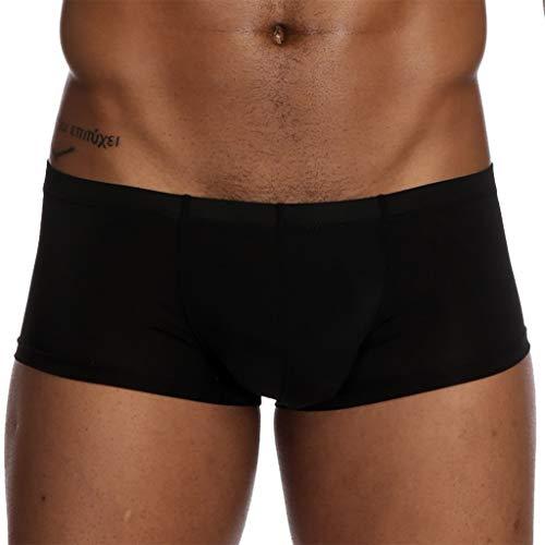 Higlles Herren Unterwäsche, Sexy Solid Ice Silk Pouch Pants Unterwäsche Soft Slip Höschen Unterhose