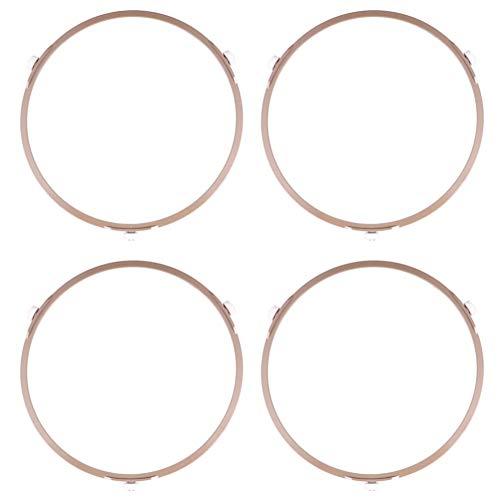 Cabilock 4 Pcs Mikrowelle Roller Ring Kunststoff Platte Tablett Rotierenden Unterstützung Mikrowelle Glas Plattenspieler Plate Roller Unterstützung Rad Ring für Glas Platte Tablett 1 4 cm