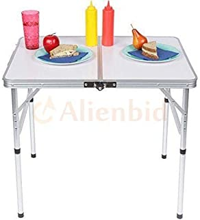 Phasuk Folding Table Portable Outdoor Picnic Party Dining Camp Tables 3FT L X 2FT W