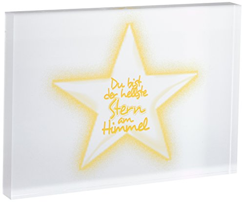 Little Helper STARS-A5BLK-06G blocco decorativo con brillantini