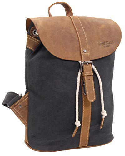 Gusti Paula leather backpack for women and men, 11 L, Blue / Brown (Blue) - 2M81-20-12wp
