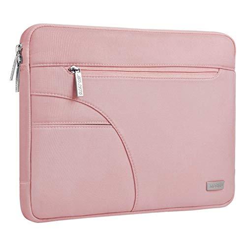MOSISO Hülle Sleeve Tasche Kompatibel mit 13-13,3 Zoll MacBook Pro, MacBook Air, Ultrabook Netbook Tablet, Polyester Schutztasche Laptopsche mit Zubehörtasche, Rosa