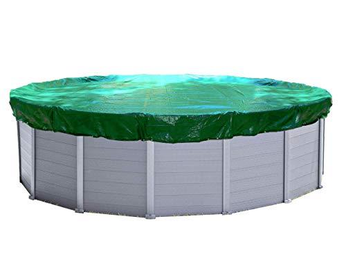 QUICK STAR Abdeckplane Pool Rund Planenmaß : Ø 680cm passend für Poolgröße Ø 550-600cm Winterabdeckplane Poolabdeckung 180g/m²