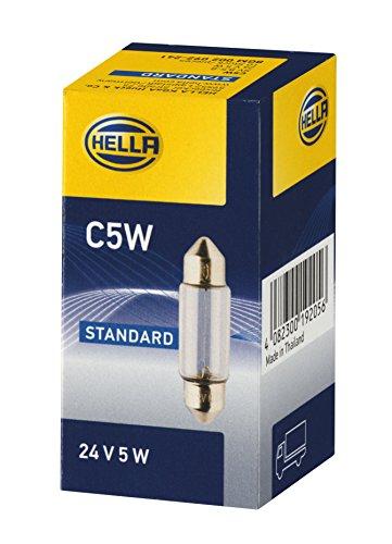 HELLA 8GM 002 092-241 Glühlampe - C5W - Heavy Duty - 24V/5W - SV8,5-8 - Schachtel - Menge: 10