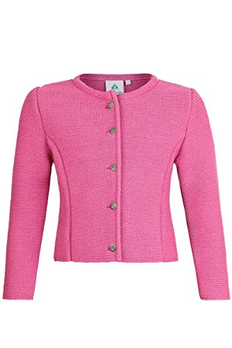 Isar-Trachten Isar-Trachten Mädchen Mädchen Trachten-Strickjacke Dirndljacke pink, PINK (pink), 140