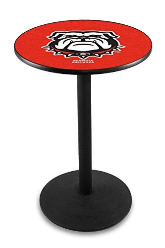 "Holland Bar Stool Co. L214-36"" Black Wrinkle Georgia Bulldog Pub Table image"