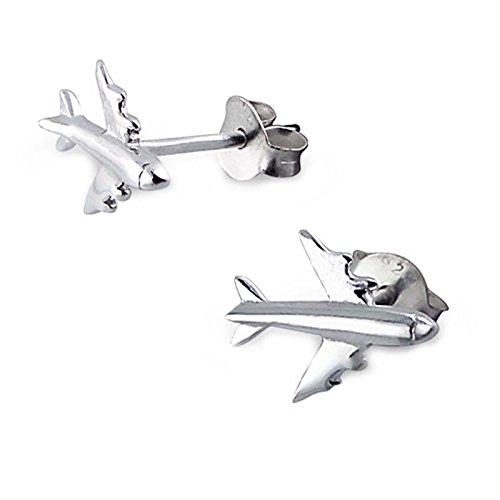 SL-Silver orecchini in argento 925 A forma di aereo