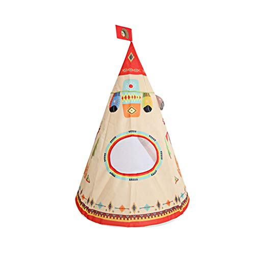 jieGorge Folding Children Kids Play Indian Style Tent In/Outdoor Toy House Boys Girls, Toys and Hobbies (White)