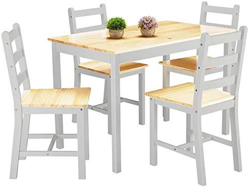 Sencillo de pino moda moderna con cinco conjuntos de cuatro sillas de comedor muebles de comedor, Mesa de comedor moderna 1 x 4 x Silla,Grey