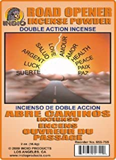 Indio Incense Powder Double Action Road Opener 2 Colors