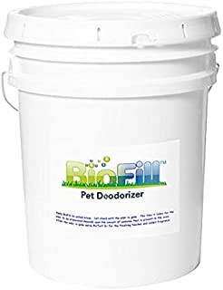 BioFill 40lb Pail Granular Artificial Grass Pet Odor Deodorizer Used to Naturally Filter and neutralize Urine Odor in Turf Surfaces. Granules Set in Turf Blades and absorbs Urine preventing Odor!