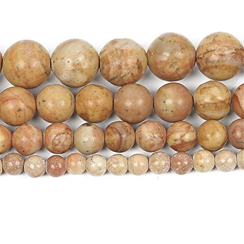 Natural arco iris piedra encanto redondo cuentas sueltas para hacer joyas costura pulsera DIY Strand 4 6 8 10 12 mm H8122 4mm aproximadamente 92pcs