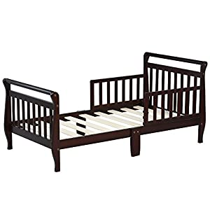 Dream On Me Classic Sleigh Toddler Bed, Espresso