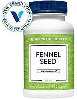 The Vitamin Shoppe Fennel Seed 480MG (Foeniculum Vulgare Seed), Herbal Supplement for Digestive Support Intestinal Health ...