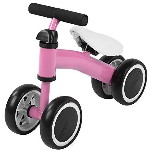 Bicicleta de Triciclo para bebés y niños pequeños, Andador para bebés y niños pequeños, para Aprender a Caminar, sin Pedal(Rosa)