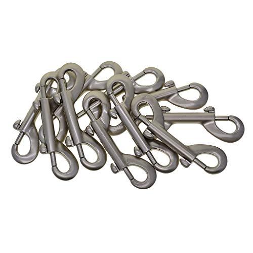 Non-brand 10 Stück Double Ended Metal Snaps Plated Trigger Hooks Clips Snap Key Holder Sicherheit
