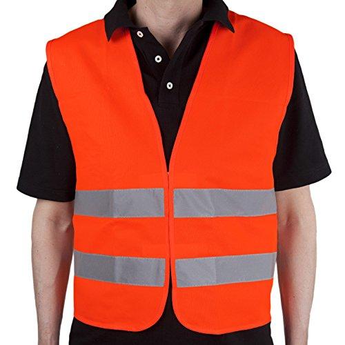 Allflash AL-1250 - Gilet ad Alta visibilità, Colore: Arancione