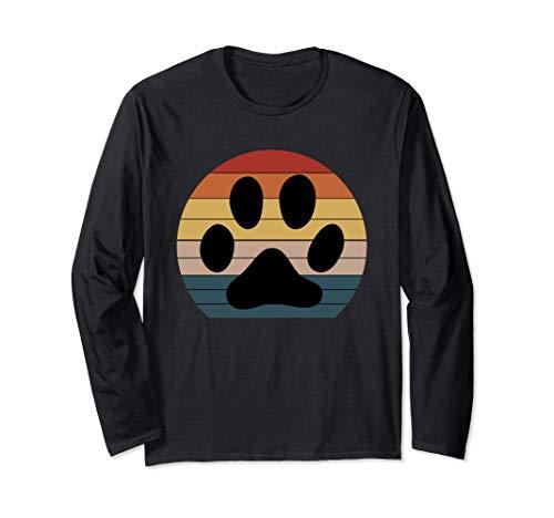 Original Cat Paw retro gift Cat lover shirt Long Sleeve T-Shirt