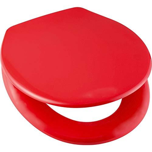 WC Sitz Toilettendeckel Klobrille Duroplast rot