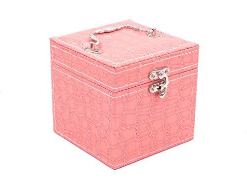 Mini Maleta Porta Jóias, Bijuterias E Acessórios… (Rosa)