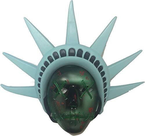 The Rubber Plantation TM 619219304436 The Purge - Máscara LED con diadema incorporada para disfraz de Halloween (libertad de luz), unisex adulto, talla única