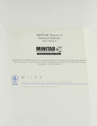 Minitab Student Release 14 for Windows: Minitab Statistical Software (CD-ROM)