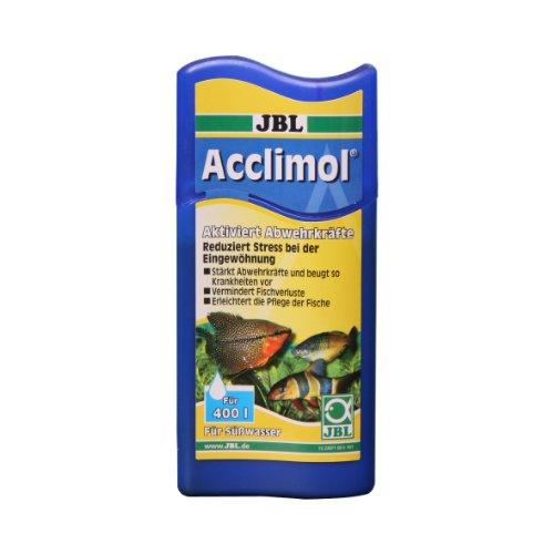 JBL Acclimol 2307200 Wasseraufbereiter für Süßwasser-Aquarien zur Neueingewöhnung von Fischen, 250 ml