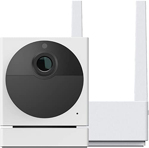 WYZE Cam Outdoor Starter Bundle (Includes Base Station and 1 Camera), 1080p HD Indoor/Outdoor Wire-Free Smart Home Ca...