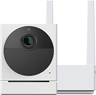 WYZE Cam Outdoor Starter Bundle (Includes Base Station and 1 Camera), 1080p HD Indoor/Outdoor Wire-Free Smart Home Camera ...