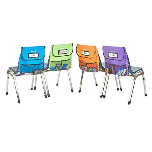 """EAI Education NeatSeat Slide Classroom Chair Organizer Large 