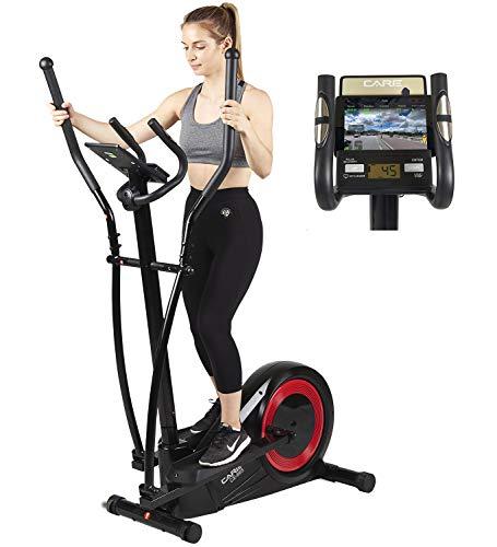 Vélo elliptique réglage motorisé CE-665 par Care | 21 programmes – Remise en Forme complète - Fonction ergomètre