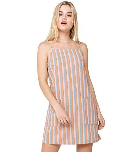 BILLABONG Damen Straight Round Woven Mini Dress Freizeitkleidung, Multi, X-Klein