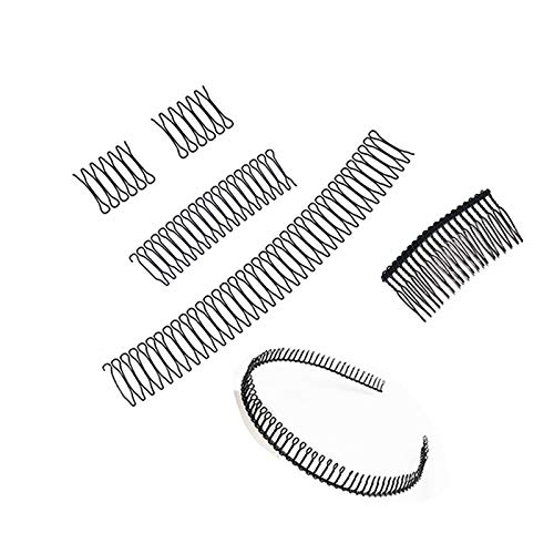 6PCS U Shape Hair Finishing Fixer Comb, Double Bangs Hairstyle Hairpin Set, Mini Bangs Holder Styling Tool, Hairstyle Clip for Women and Girls Hair Accessories