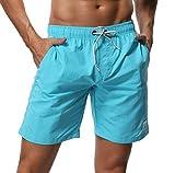 SHEKINI Homme Short de Bain Maillot de Bain Shorts de Plage Été De Plein Air Beach Shorts pour Surf Board Shorts Swim Trunks...