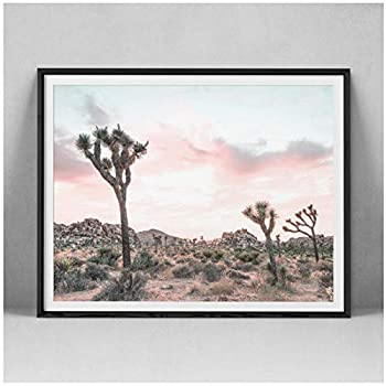 dayanzai Joshua Tree Cactus Photography Art Canvas Poster Painting Arizona South Western Desert Wall Picture Print Home Room Decoration 50X70Cm No Frame