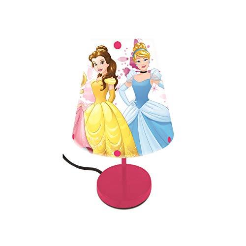 LEXIBOOK Disney lámparita de Noche de Las Princesas, luz Decorativa Especialmente diseñada para Las admiradoras de Bella, Cenicienta, Rapunzel, Ariel y Aurora-LT010DP, Color Rosa