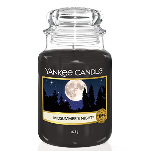 Yankee Candle 115174E Midsummer's Night Candele in giara Grande, Nero(Notte di Mezza Estate)