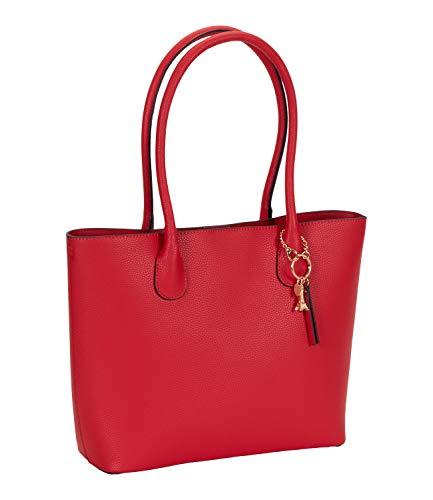 SIX Roter Shopper mit Eiffelturmanhänger - Valentinstag (539-103)