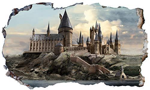 Chicbanners Harry Potter Hogwarts Castle 3D Magic Window V600 Wandtattoo, selbstklebend, Größe 1000 mm breit x 600 mm tief (groß)