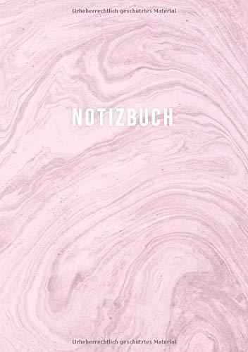 NOTIZBUCH A5 BLANKO: Journal zum Selbstgestalten oder als Zeichenbuch, Skizzenbuch, Blankobuch, Malbuch | 110 Seiten leer | Weißes Papier | Motiv Marmor Pink